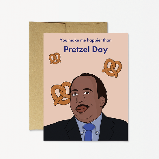 Pretzel Day Card