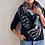 Thumbnail: Black White and grey southwest triangle scarf