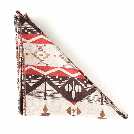 Red/Brown/Tan Aztec Triangle scarf