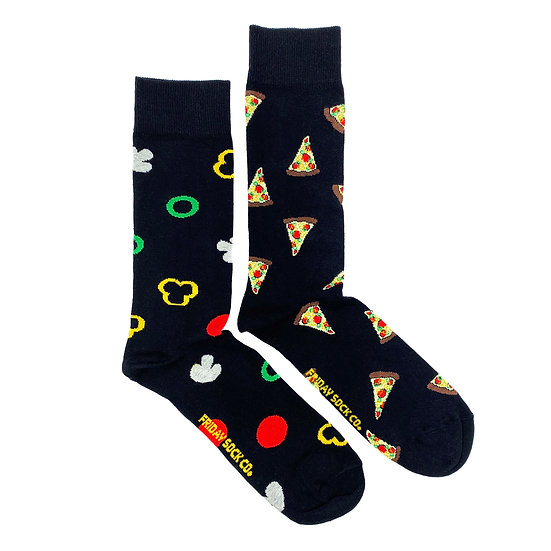 Friday Socks. Mens Pizza Crew