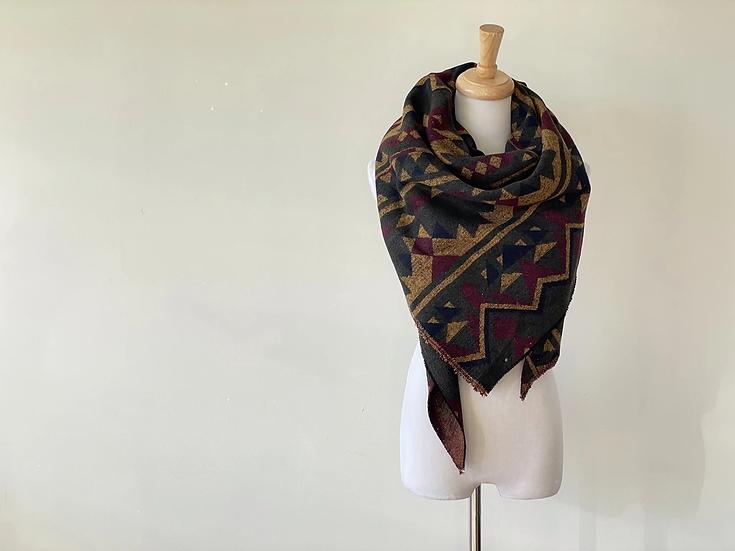 Autumn Aztec triangle scarf