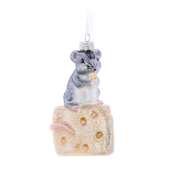 Mouse on cheese ornament