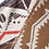 Thumbnail: Red/Brown/Tan Aztec Triangle scarf