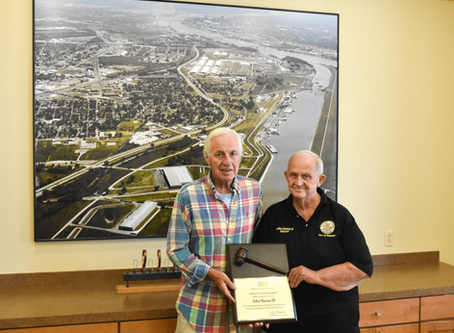 The Honorable John Hamm III Recognized For Service as America's Central Port Board Chairman
