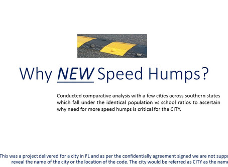 How Big Data with Data Lake can help you determine if there is a need for speed humps in your city!!