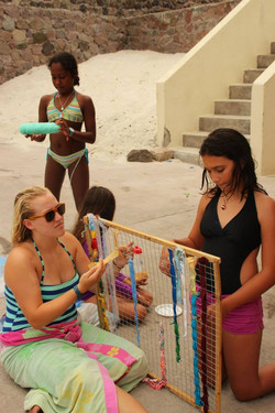 Weaving project at the beach!