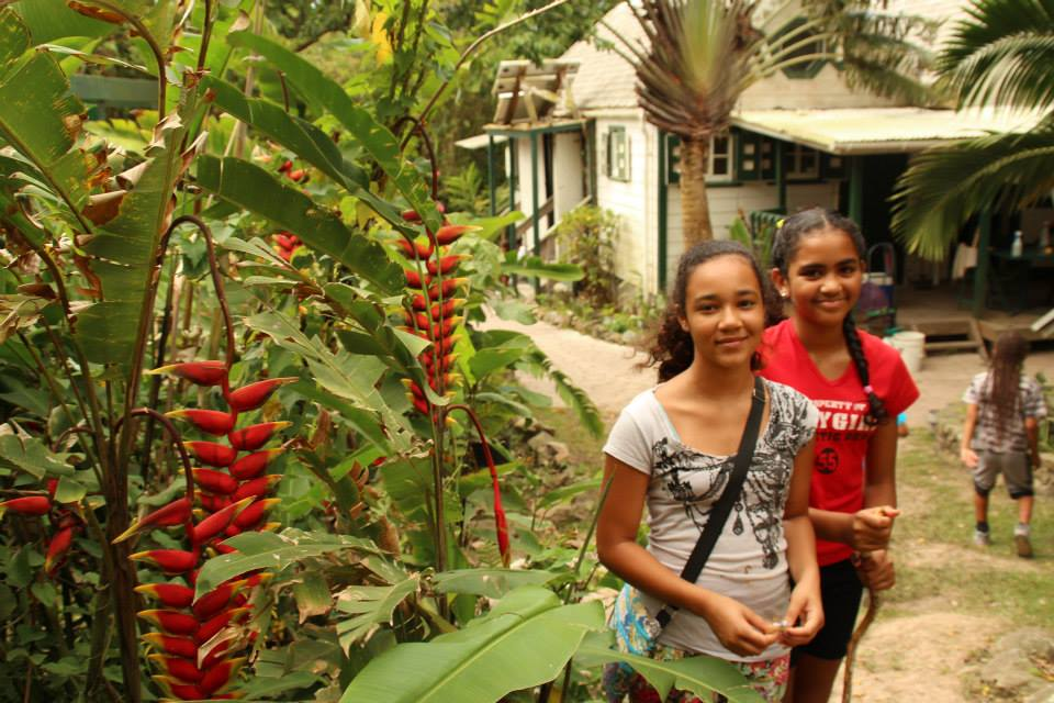 The girls at Eco Lodge