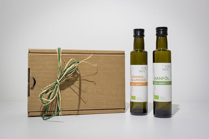 Geschenkbox mit 2x250ml Speiseölen