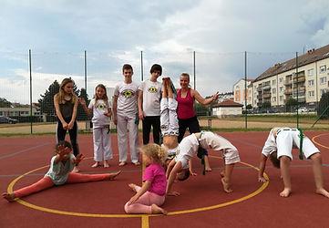 Capoeira písek děti