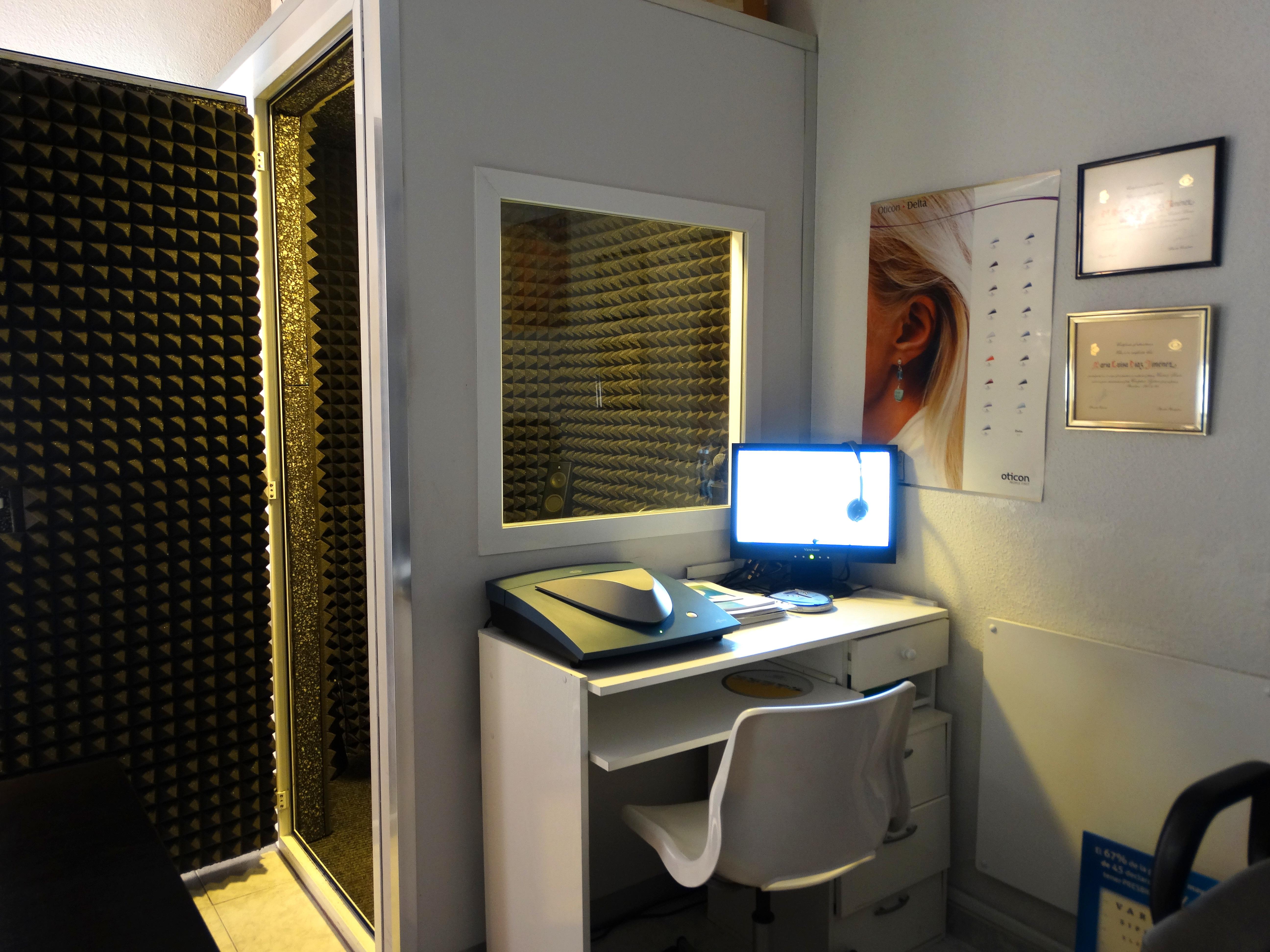 Cabina audiométrica sonoamortiguada