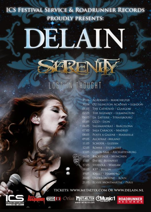 European Tour with Delain & Serenity
