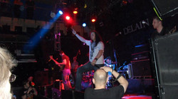 On stage at Islington o2 Academy