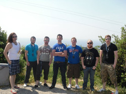 LIt & Crew at the Italian boarder
