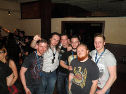 Hanging out with fans at Salamandra