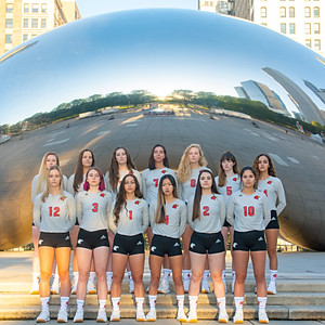 Photoshoot for Illinois Tech Volleyball