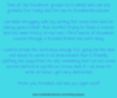 Feedback for Write Freely Workshop