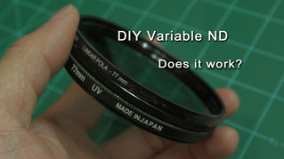 Experiments with a DIY Variable ND