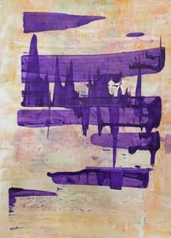 Cityscape In Purple