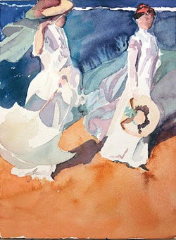 Two Sisters (after Sorolla)