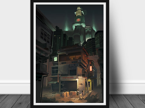 Final fantasy VII sector - Large A2 poster 60x40 cm