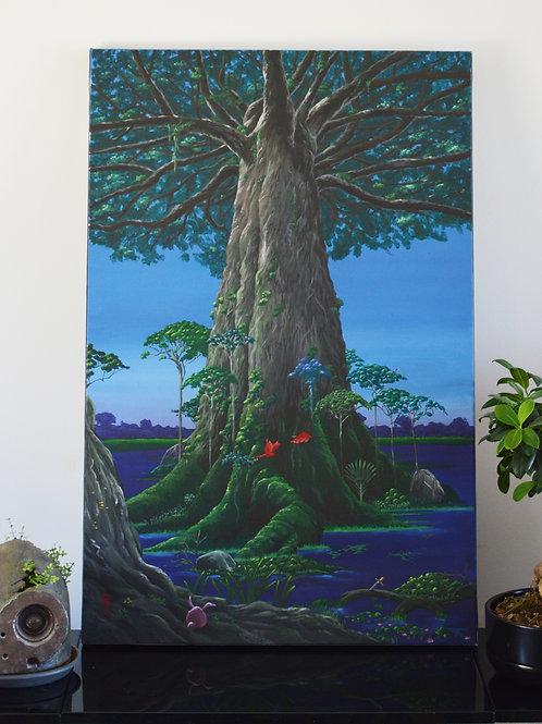 Secret of Mana - Toile originale - Acrylique sur toile 92x60 cm