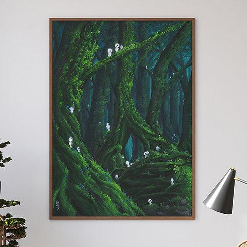 Mononoke - XXL print HD 80x60cm - poster A1