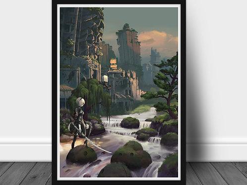 Nier Automata - Large A2 poster 60x40 cm