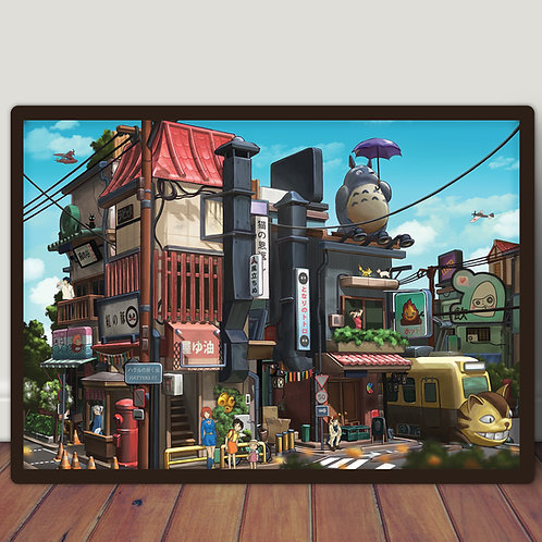 Ghibli Tokyo street - Poster