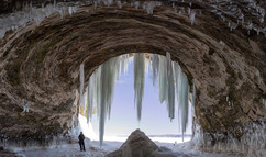 Ice Cave on Grand Island