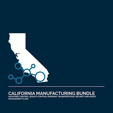 California Cannabis Manufacturing License Application Bundle
