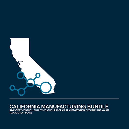 California Cannabis Manufacturing License Application Bundle