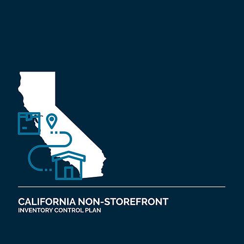 California Non-Storefront Retail License Inventory Control Plan