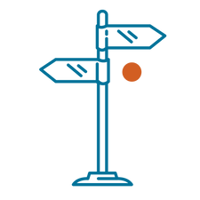 Sign post direction icon