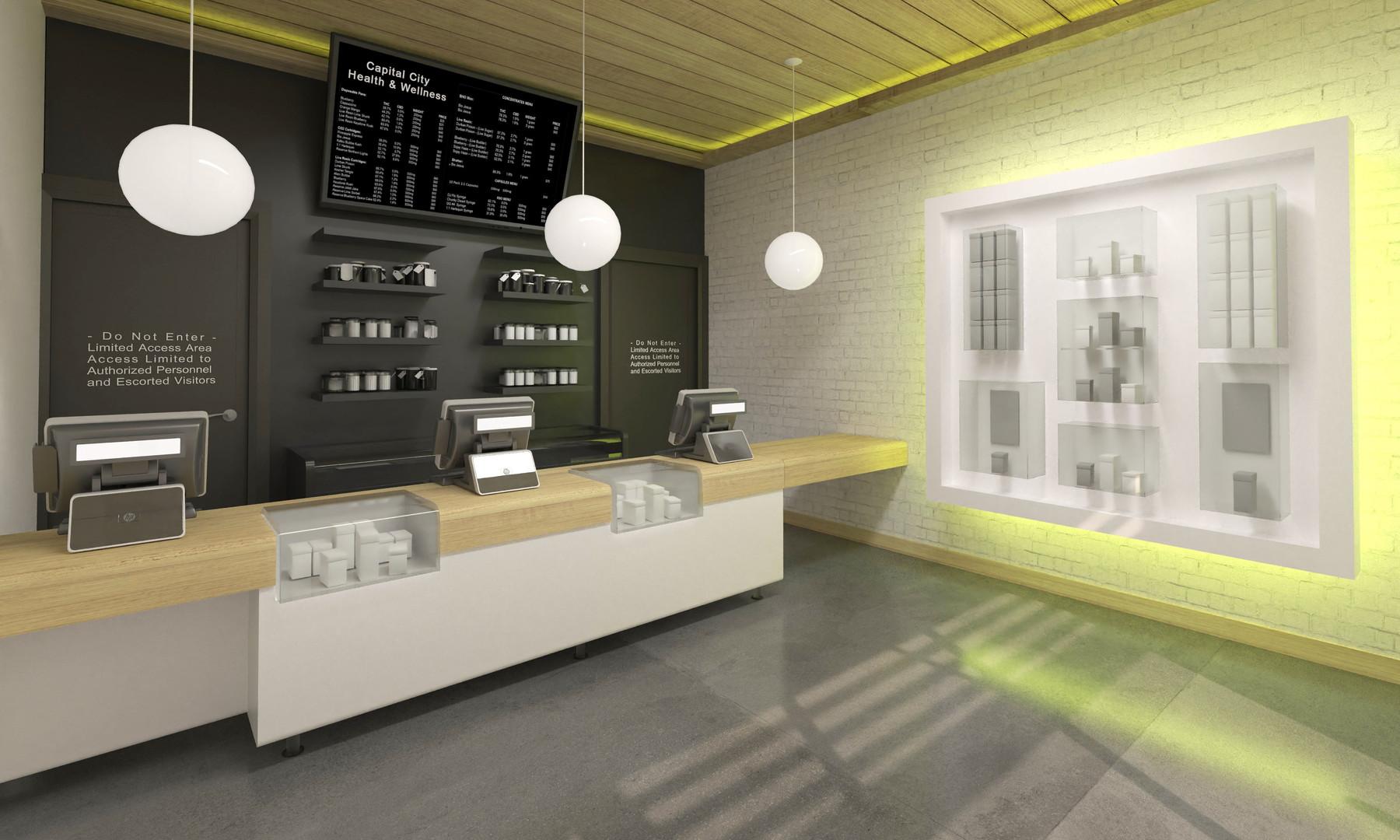 Point7 Dispensary Design - West Virginia Medical Dispensary