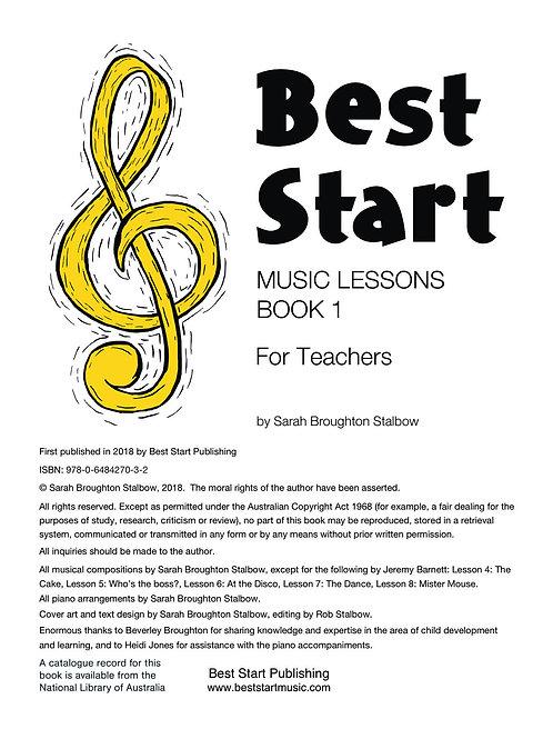 DIGITAL FILE: Best Start Music Lessons Book 1 for Teachers