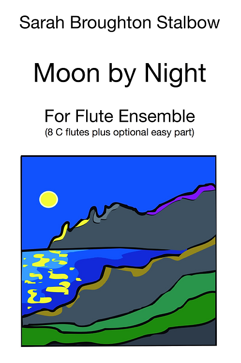 Moon by Night for Flute Ensemble
