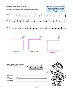 Best Start Music Lessons Book 1 page 10.