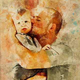 Kissed by Daddy