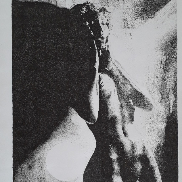 """'Lighting'  Giancarlo Iamele  Argentina  Fineliner 0.05, 0.1 and Paper  8.66 x 12.59 inches   """"Lightning"""" shows how women are being alighted through their beauty and sensuality onto their freedom and happiness."""