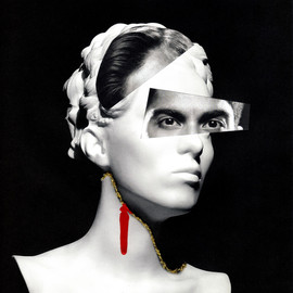 """'Morphosis 1'  Julia Gaczek  Norway @collagedejul Paper collages 8-1/4 x 11-3/4  Morphosis"""" describes the process of changes that every woman faces during her life and needs to find her own way through"""