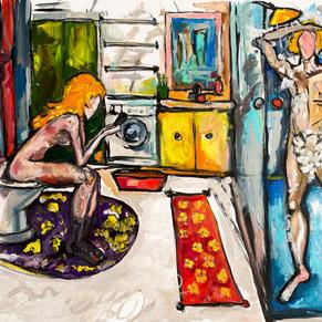 Shared bathroom- Sasha Neschastnova