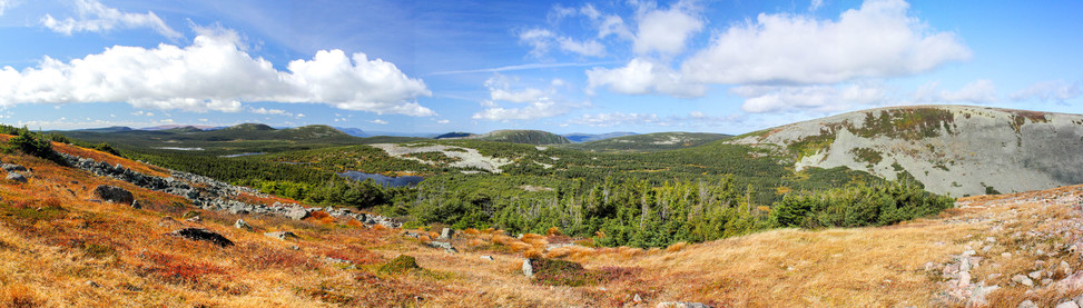 Vue depuis le mont de la Jacques Cartier / View from Jacques cartier mount