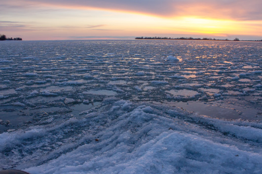 Lac glacé / Frozen lake