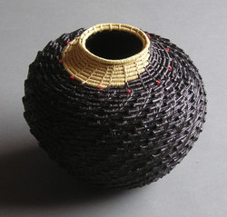 Vase with Red Beads
