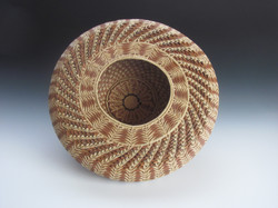 Natural Wheat Stitch Seed Basket