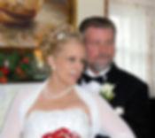 Lisa Brooks, author and her husband Robert Brooks on their wedding day 2012