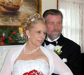 Lisa Brooks, author and her husband Robert Brooks on their wedding day 2012