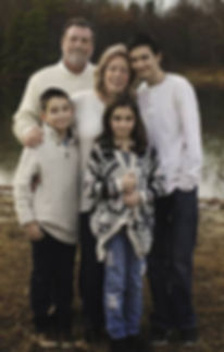 Lisa Brooks, author and her family
