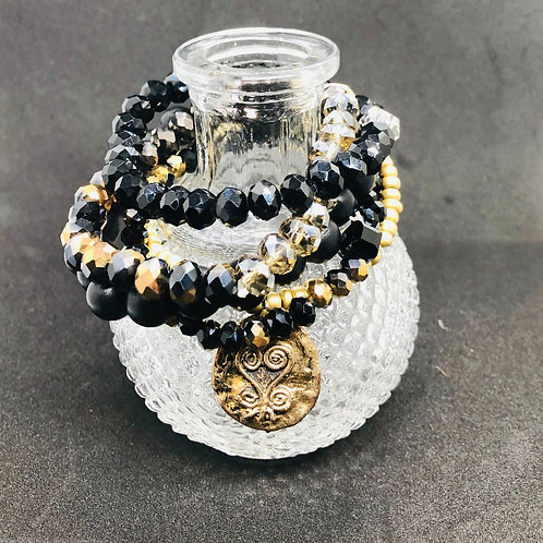 Tselane's Custom Stackable Bracelets - Black Beauty