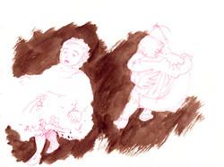 Bárbara. (In a sketchbook). 2018